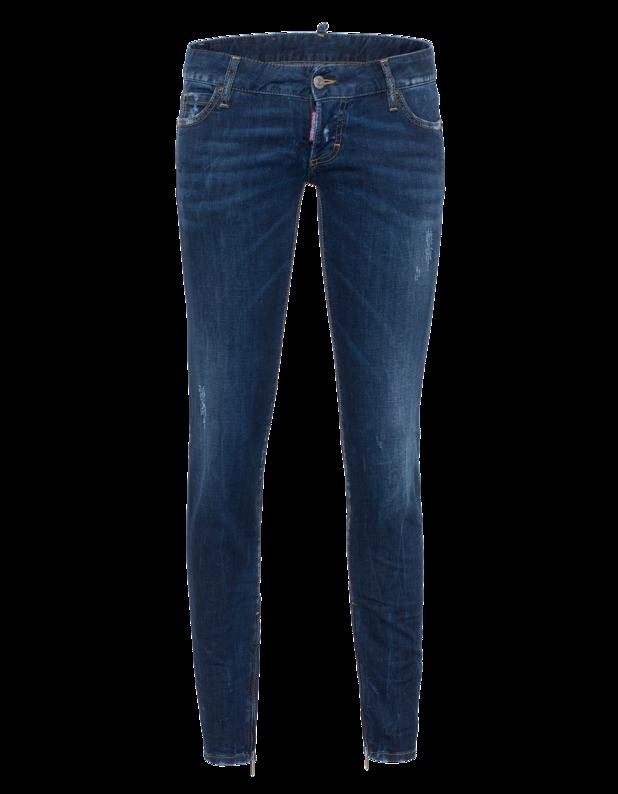 Jean Short Crotch Tight Bottom Blue