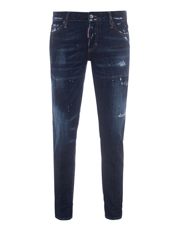DSQUARED2 Jennifer Cropped Dark Blue Skinny Jeans mit