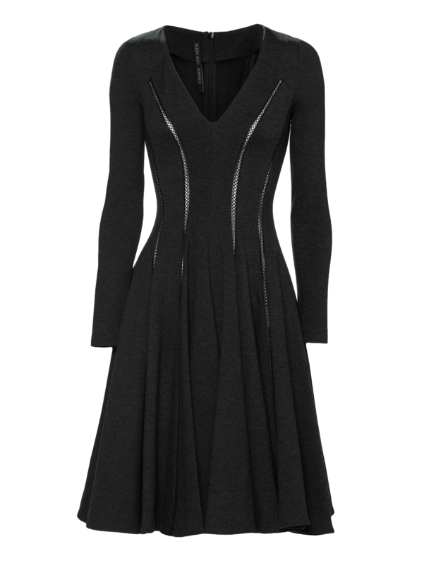 Robe Genoux Anthracite