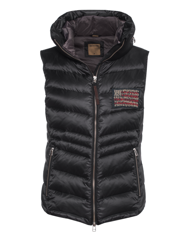 Womens Down Vest Black