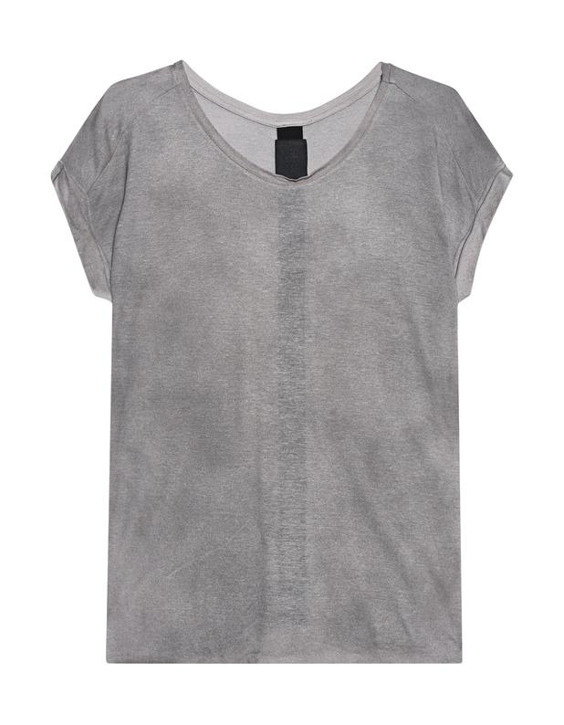 Artikel klicken und genauer betrachten! - T-Shirt mit Schlitz  Cooles T-Shirt aus weichem Viskose-Mix in tollem Grau kommt mit offenem Rücken, sehr kurzen Ärmeln und Rundhalsausschnitt.    Perfektes Basic mit Twist!   im Online Shop kaufen